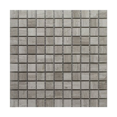 Oyster Square Polished 12 x 12 Glass Mosaic Tile in Gray