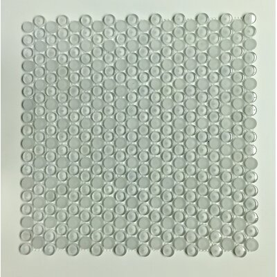 Glass Penny Round Mosaic Tile in Clear