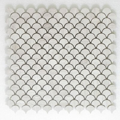 Lanterna Frosted Wall 12 x 12 Glass Mosaic Tile in White