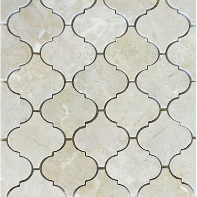 Casablanca Crema Marfil Wall Polished 12 x 12 Natural Stone Mosaic Tile in White