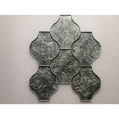 Lanterna Wall 12 x 12 Glass Mosaic Tile in Green/Silver Clear