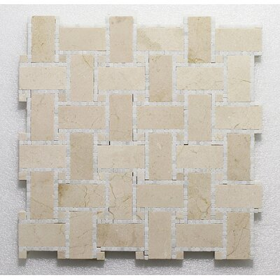 B.View Micro C.Marfil Pure P. Wall 12X12 Natural Stone Mosaic Tile in Beige