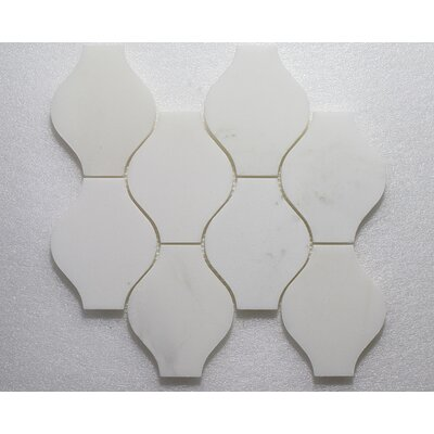 Lanterna Pure P. Wall 12X12 Natural Stone Mosaic Tile in White