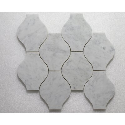 Lanterna W. Carrara P. Wall 12 x 12 Natural Stone Mosaic Tile in Gray