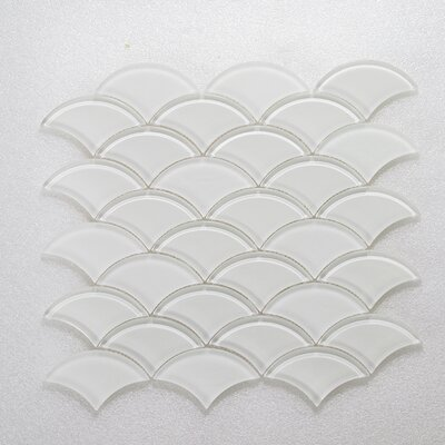 Scaglie Wall 12 x 12 Glass Mosaic Tile in White/Clear