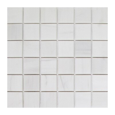 Soft Touch 2 x 2 Marble Mosaic Tile in White