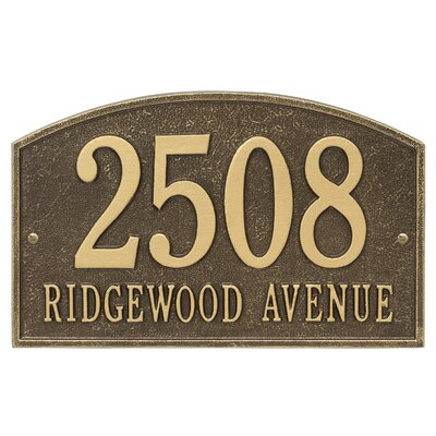 Legacy 2-Line Wall Address Plaque 3338