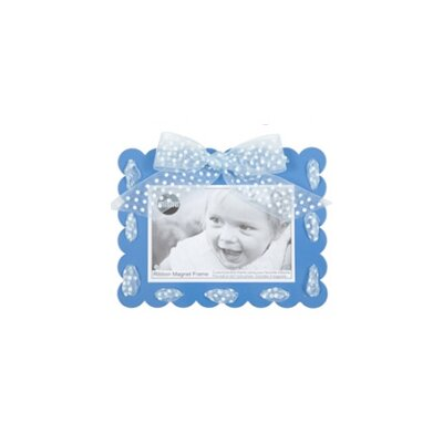 Ribbon Magnet Picture Frame Color: Blue 127