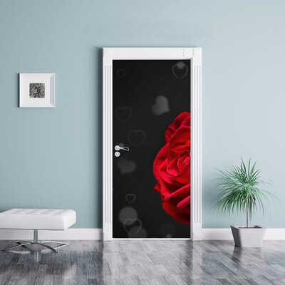 Image of Red Roses for Valentines Day Door Sticker
