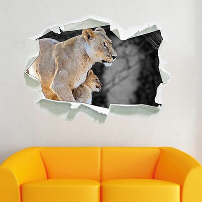 Loving Lioness Mother with Cub Wall Sticker