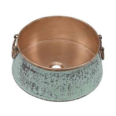 Noble Metal Circular Vessel Bathroom Sink