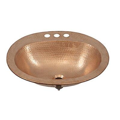 Kelvin Metal Oval Drop-In Bathroom Sink with Overflow