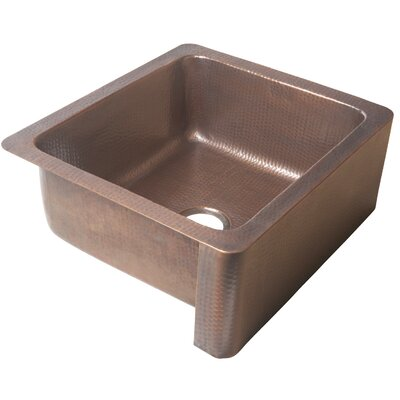 Monet 25 x 22 Farmhouse Handmade Copper Kitchen Sink