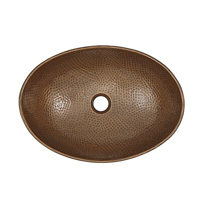 Confucius Metal Oval Vessel Bathroom Sink