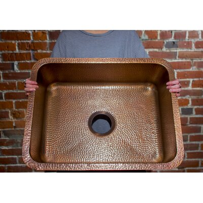 Renoir 23 x 17.25 Undermount Handmade Single Bowl Kitchen Sink