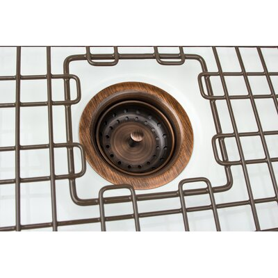 3.5 Grid Kitchen Sink Drain Finish: Antique Copper