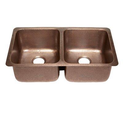 Rivera 32.25 x 18.5 Undermount Double Bowl Kitchen Sink