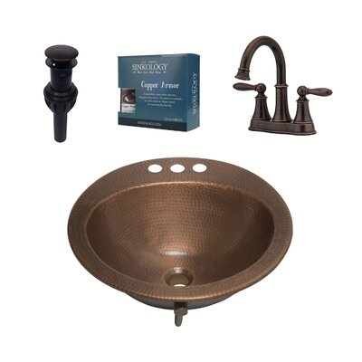 Bell Metal Specialty Undermount Bathroom Sink with Faucet and Overflow