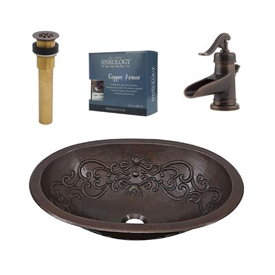 Pauling Metal Oval Undermount Bathroom Sink with Faucet