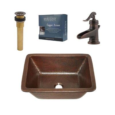 Hawking Metal Rectangular Undermount Bathroom Sink with Faucet