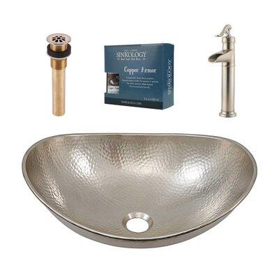 Hobbes Metal Oval Vessel Bathroom Sink with Faucet