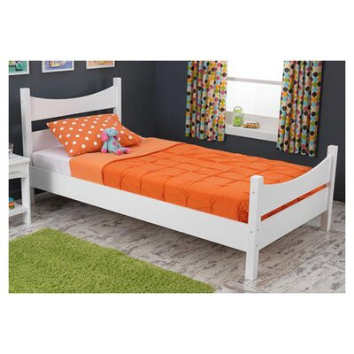 Addison Sleigh Bed Finish: White, Size: Twin