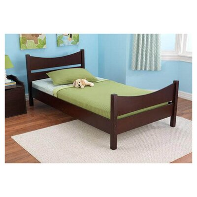 Addison Sleigh Bed Color: Espresso, Size: Twin