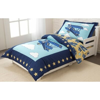 Airplane 4 Piece Toddler Bedding Set 77010