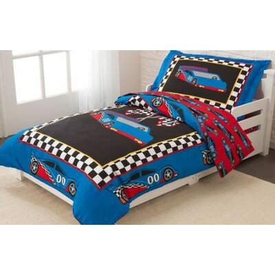 Racecar 4 Piece Toddler Bedding Set 77005