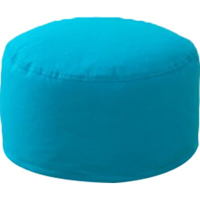 Round Pouf Ottoman Upholstery: Turquoise