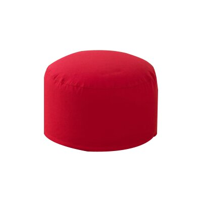 Round Pouf Ottoman Upholstery: Red