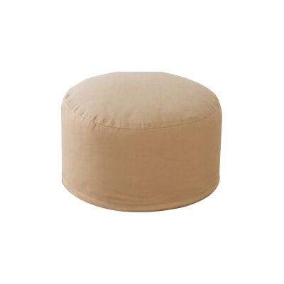 Round Pouf Ottoman Upholstery: Beige
