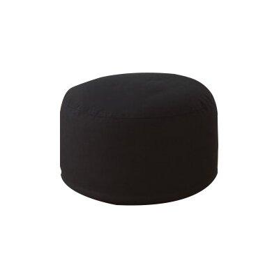 Round Pouf Ottoman Upholstery: Black