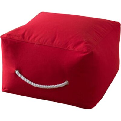 Square Ottoman Upholstery: Red