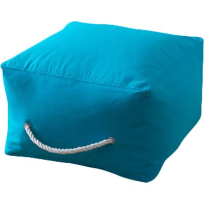 Square Ottoman Upholstery: Turquoise