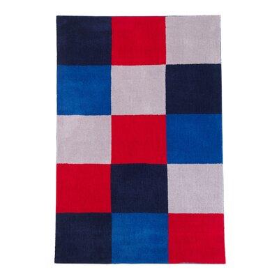 Grid Blue Area Rug Rug Size: 3 x 5