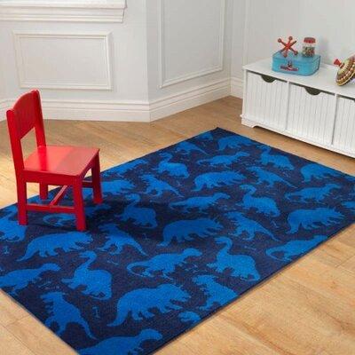 Dinosaur Blue Area Rug Rug Size: 4 x 6