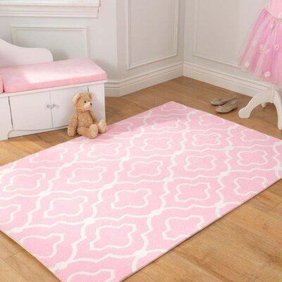 Trellis Pink Area Rug Rug Size: 3 x 5