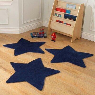 Stars Blue Area Rug