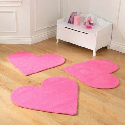 Hearts Pink Area Rug