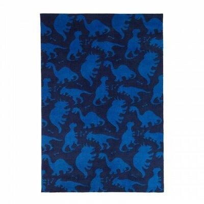 Dinosaur Blue Area Rug Rug Size: 3 x 5