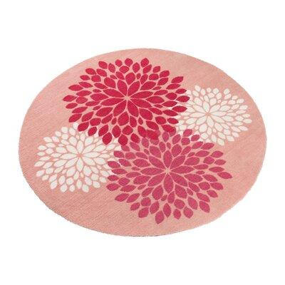 Poms Pink Area Rug