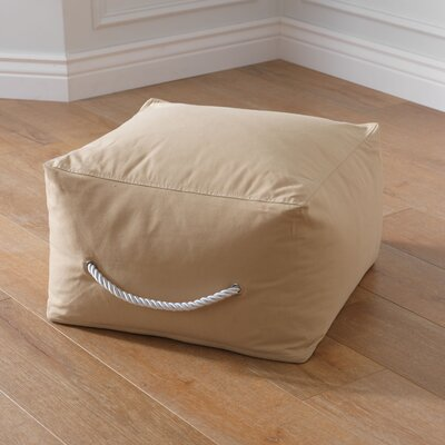 Square Ottoman Upholstery: Beige