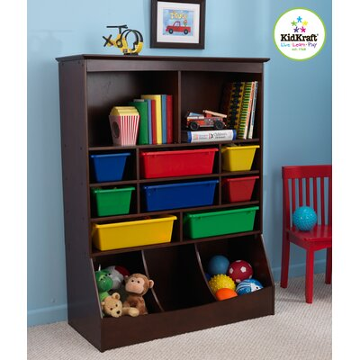 Children toy boxes toy boxes with shelves for books for Toy and book storage