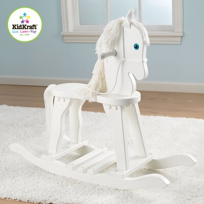 Derby Rocking Horse in White