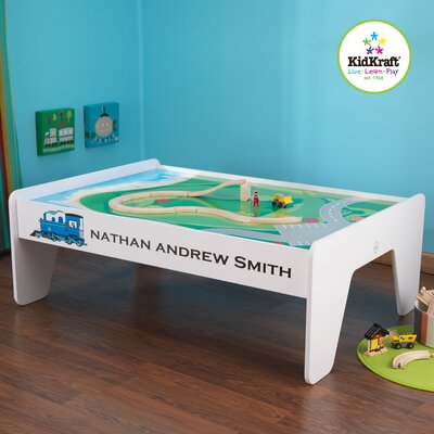 KidKraft Personalized Train Table In White