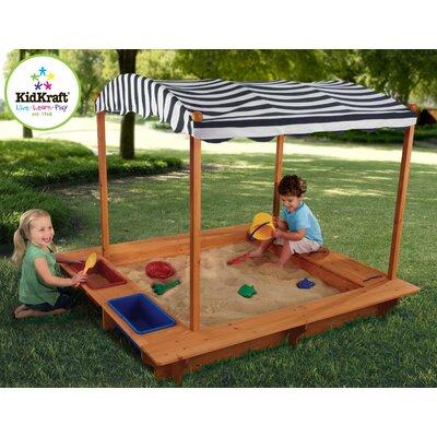 5' Rectangular Sandbox with Canopy