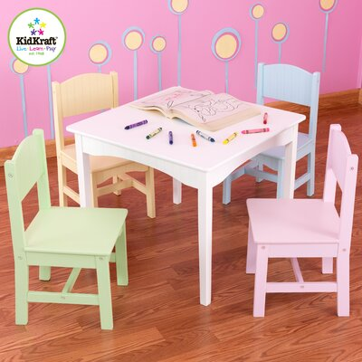 Kidkraft Nantucket Kids' 5 Piece Table and Chair Set - Color: Pastel at Sears.com