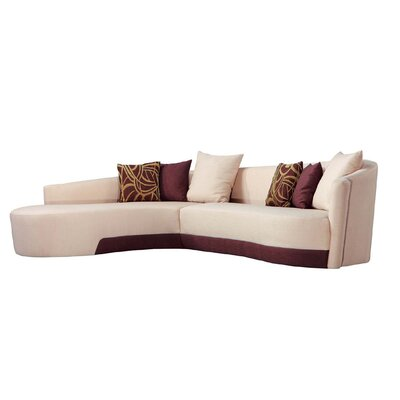 Left Facing Modern Sectional Upholstery: Beige