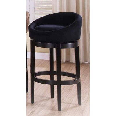 Igloo 26 Swivel Bar Stool Upholstery: Black